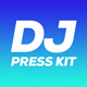 Wave - DJ Press Kit / DJ Resume / DJ Rider PSD Template - GraphicRiver Item for Sale