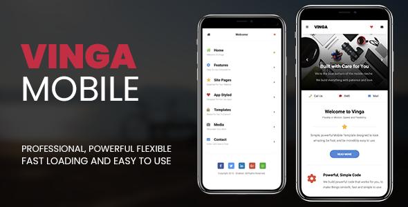 Vinga | PhoneGap & Cordova Mobile App            Nulled