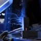 Welder and Welding Sparks at Metal Production Factory - VideoHive Item for Sale