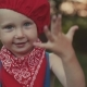 Portrait of a Little Boy Who Smiles in Embarrassment and Rejoices in Her Hands - VideoHive Item for Sale