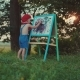 Young Artist Painting an Summer Landscape - VideoHive Item for Sale