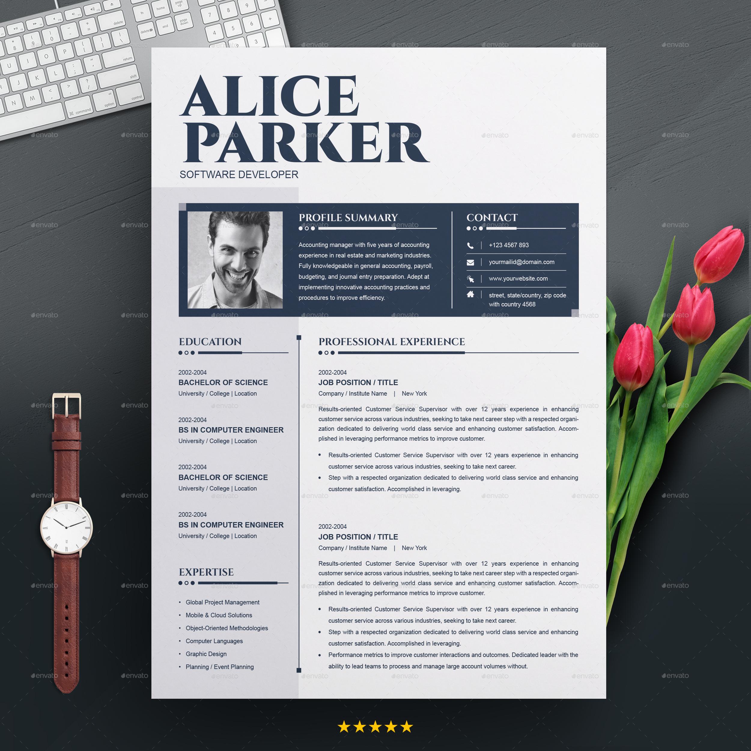 Cv Template Resume Template Cv Design Cover Letter For