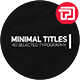 Minimal Titles II - VideoHive Item for Sale