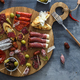 Typical spanish tapas concept. include variety slices jamon, chorizo, salami. Copyspace. - PhotoDune Item for Sale