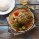 Curry fish head, Traditional singaporean cuisine - PhotoDune Item for Sale