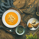 Warming pumpkin cream soup with croutons and seeds - PhotoDune Item for Sale