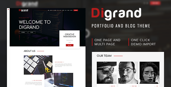 Digrand - Portfolio And Blog Theme - Portfolio Creative