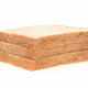 Whole wheat bread stacked on white background. - PhotoDune Item for Sale