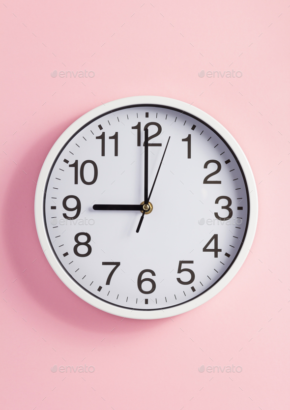 wall clock at abstract background - Stock Photo - Images