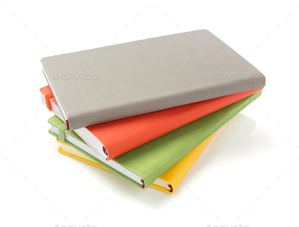 notebook and pad at white background - Stock Photo - Images