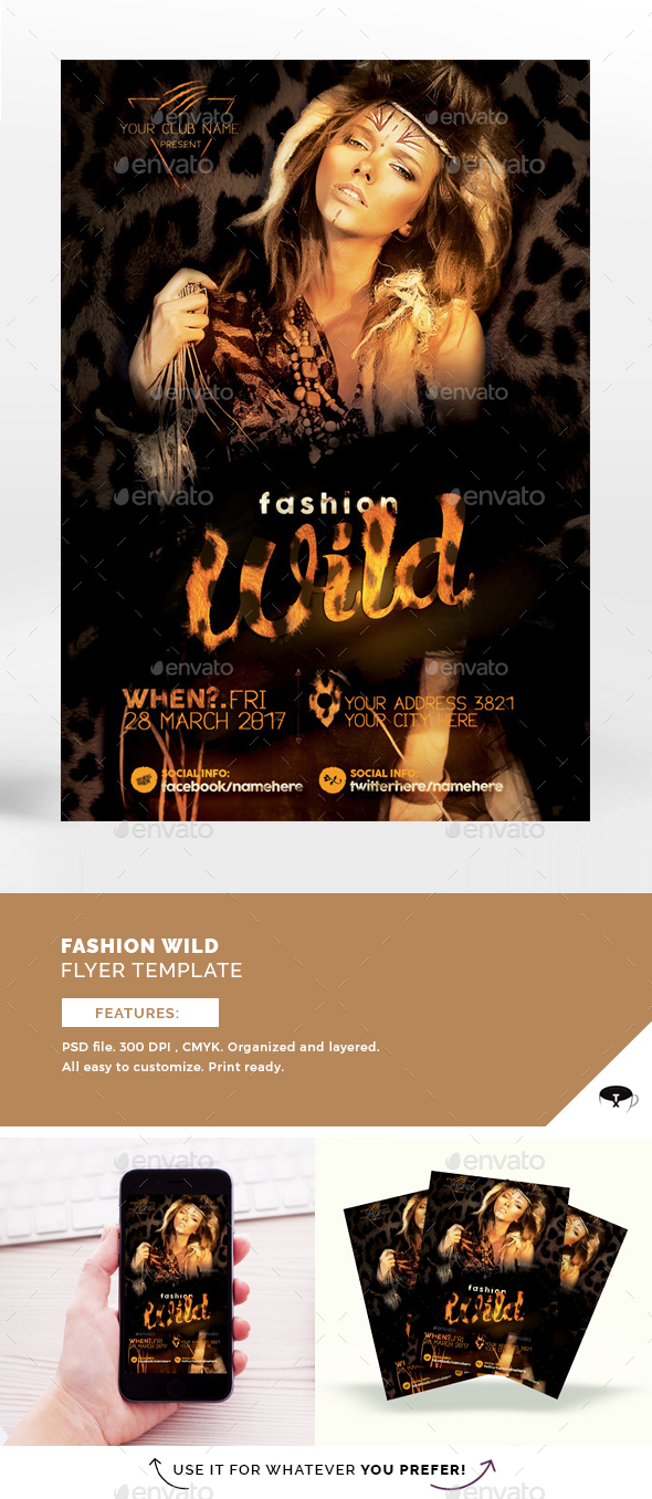 Fashion Wild Flyer Template - Events Flyers