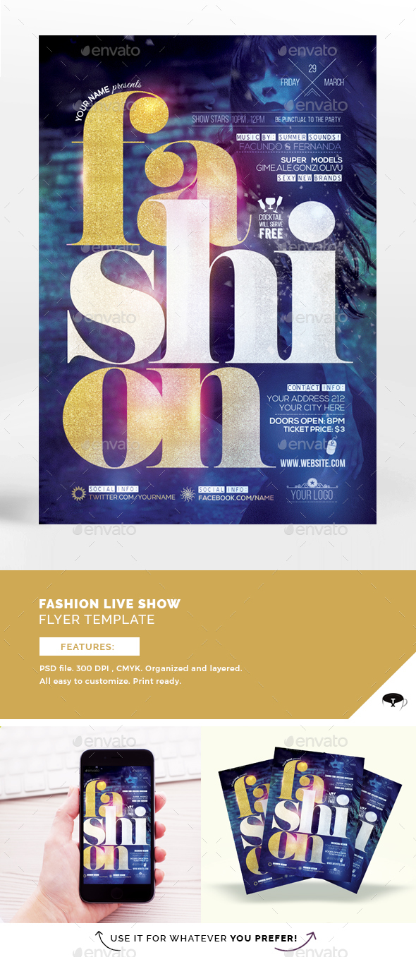 Fashion Live Show Flyer Template - Events Flyers