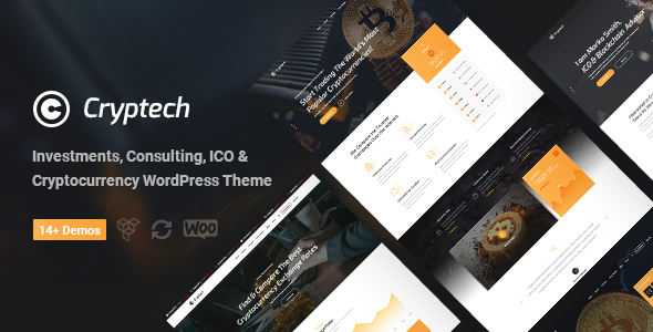 Image of Cryptech - Investments, Consulting, ICO and Cryptocurrency WordPress Theme
