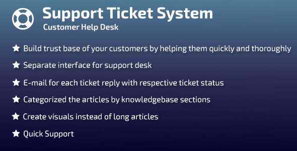 Support Ticket System - CodeCanyon Item for Sale