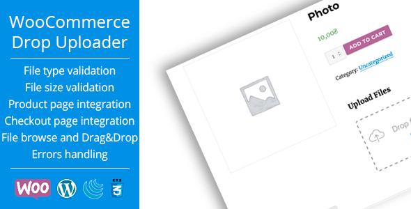 WooCommerce Drop Uploader - Drag&Drop File Uploader Addon            Nulled