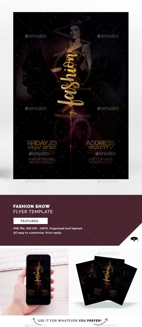 Fashion Show Vol.3 Flyer Template - Events Flyers