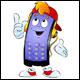 Set of 10 Smartphones Cartoons