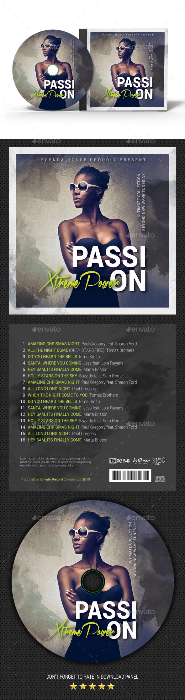 Passion Music CD Cover - CD & DVD Artwork Print Templates