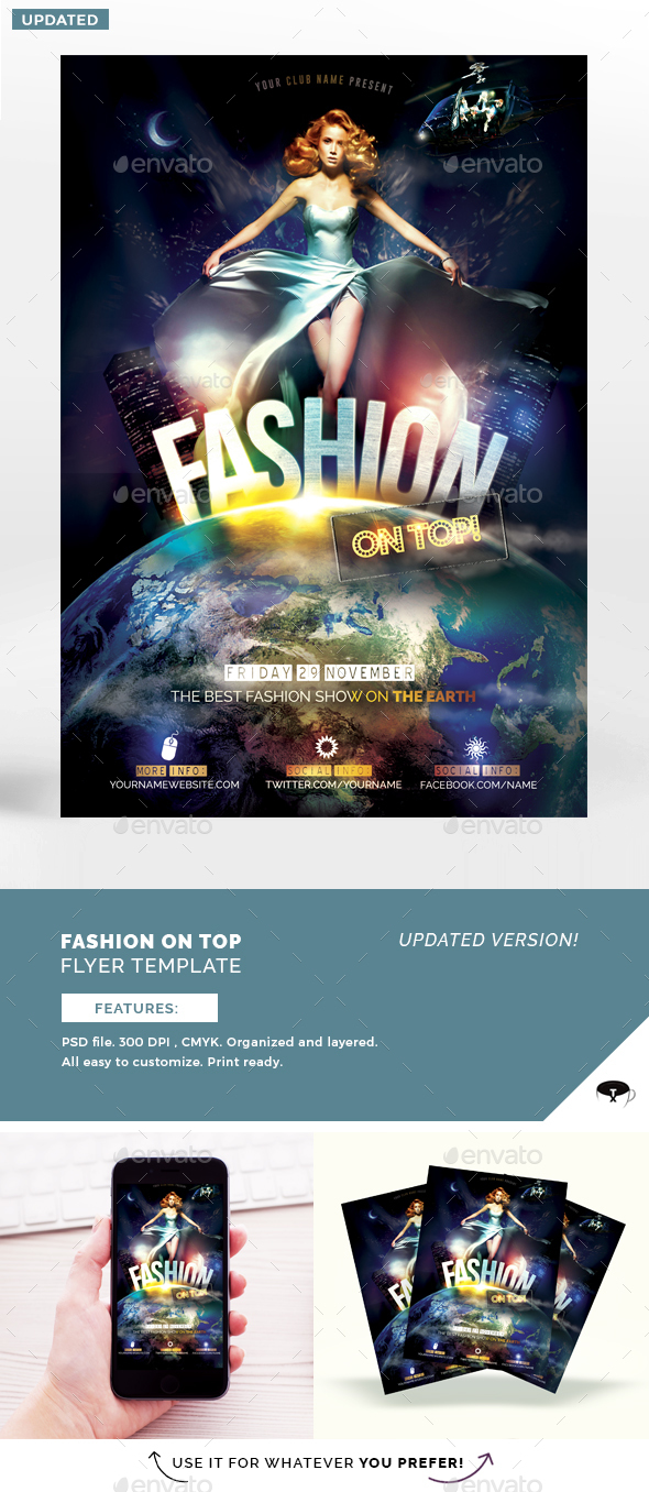 Fashion On Top Flyer Template - Flyers Print Templates