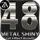 48 Metal Shiny Text Effect Bundle - GraphicRiver Item for Sale