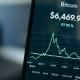 Bitcoin All Time High Peak Price Point in December 2017 on Mobile Phone Screen - VideoHive Item for Sale