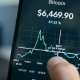 Looking at Bitcoin Downtrend 2018 Bear Market on Smartphone Cryptocurrency App - VideoHive Item for Sale