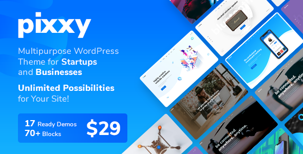 Pixxy - A Powerful Startup Business WordPress - Software Technology