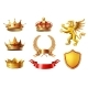 Royal Golden King Crowns Set - GraphicRiver Item for Sale