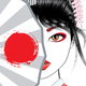 Geisha with Fan - GraphicRiver Item for Sale