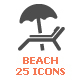 25 Beach  &Summer Filled Icon - GraphicRiver Item for Sale