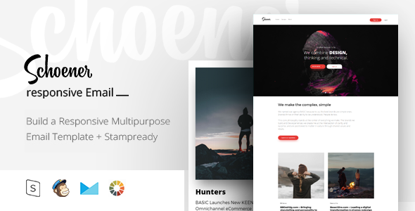 Schoener - Responsive Email + StampReady Builder