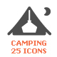 Camping & Outdoor Filled Icon - GraphicRiver Item for Sale