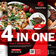 Restaurant Flyer Bundle Templates - GraphicRiver Item for Sale