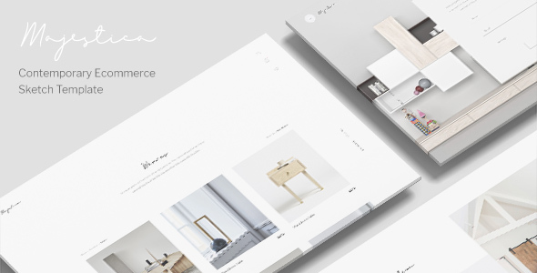 Majestica - A Contemporary Ecommerce Sketch Template - Sketch Templates