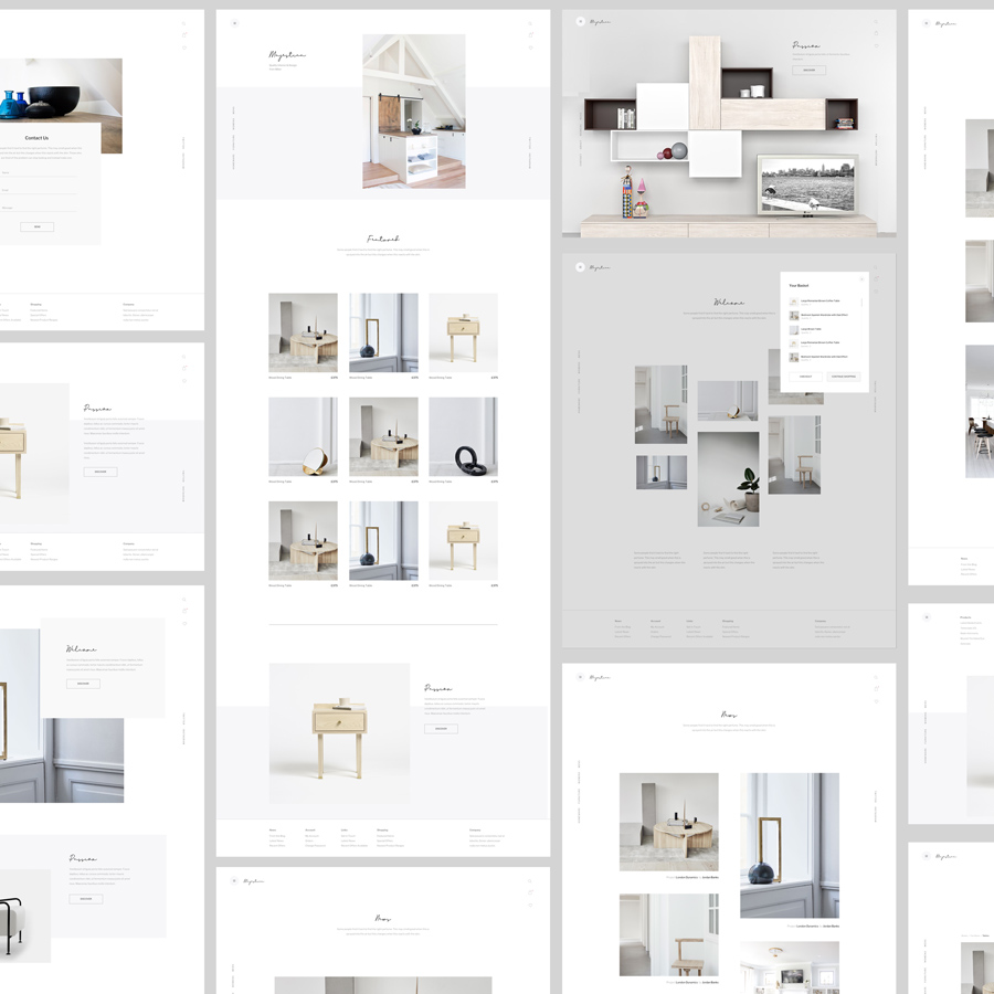 Majestica - A Contemporary Ecommerce Sketch Template