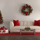 White living room with Christmas tree - PhotoDune Item for Sale