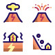 Disaster Filled Line Icons