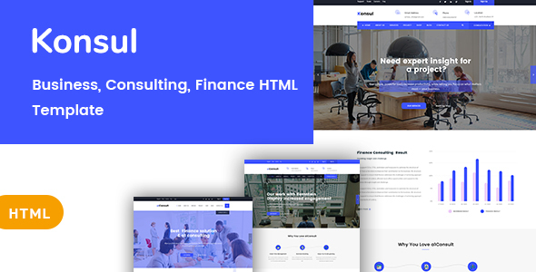 Konsul - Business & Consulting HTML Template - Business Corporate