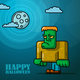 Halloween Full Moon with Frankenstein - GraphicRiver Item for Sale