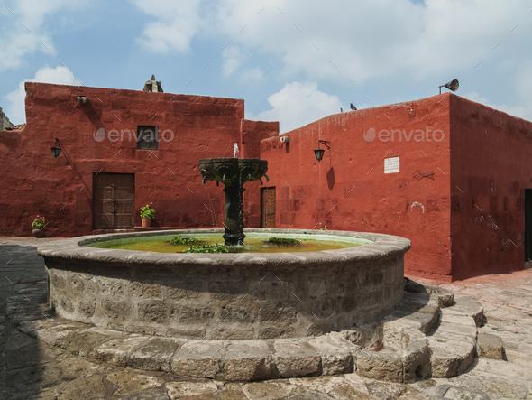 Santa Catalina Monastery in Arequipa, Peru - Stock Photo - Images