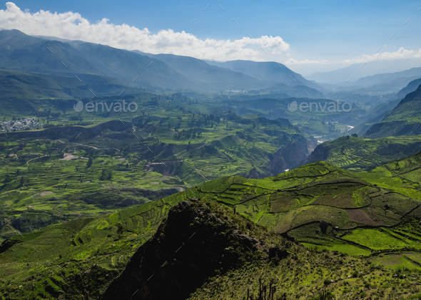 Colca Valley in Peru - Stock Photo - Images