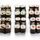 Set of various maki rolls over white - PhotoDune Item for Sale