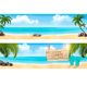 Summer Vacation Panorama Vector - GraphicRiver Item for Sale