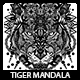 Tiger Mandala T-shirt Design - GraphicRiver Item for Sale