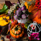 Fall decor with birdcage, apples and flowers - PhotoDune Item for Sale