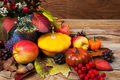 Thanksgiving decor with yellow squash, fresh apples - PhotoDune Item for Sale