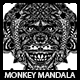 Monkey Mandala T-shirt Design - GraphicRiver Item for Sale