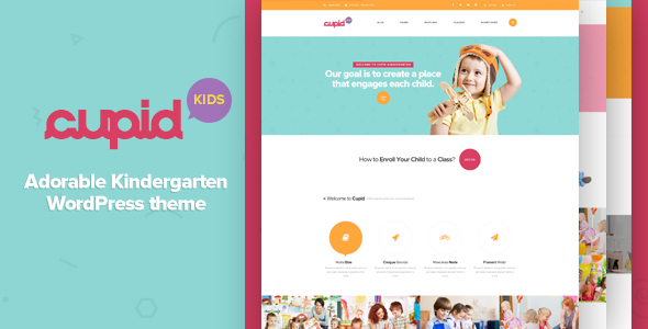 CUPID - Adorable Kindergarten WordPress Theme - Education WordPress