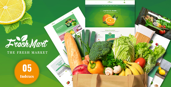 Freshmart - Organic, Fresh Food, Farm HTML Template