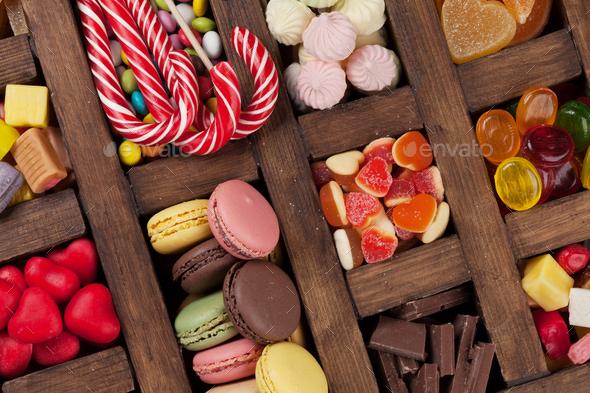 Colorful sweets box Stock Photo by karandaev | PhotoDune